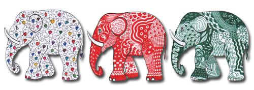 Zentangel olifanten
