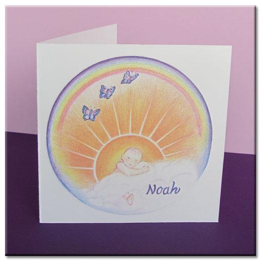 Geboortekaartje van Noah